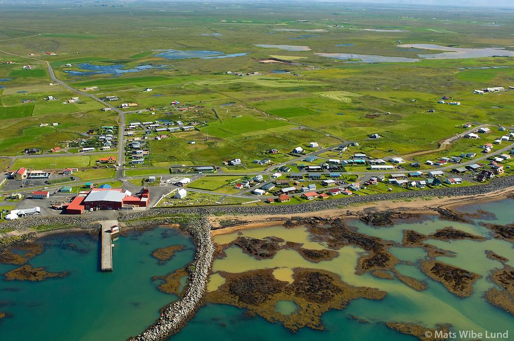 Stokkseyri séð til norðausturs, Sveitarfélagið Árborg /.Stokkseyri viewing northeast, Sveitarfelagid Arborg.