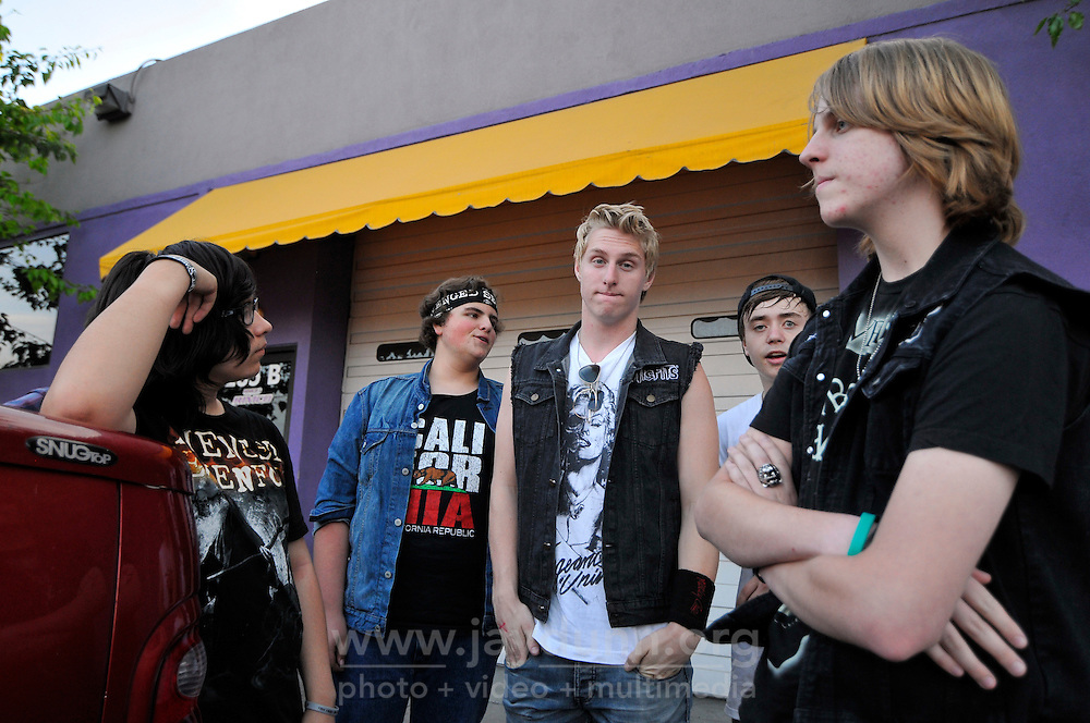 Members of Disruption hang out after their set. In a well-attended, all-ages music event organized by Salinas' own In Your Face Productions, five area metal bands played their hearts out on Saturday night at the Rock Boxing Gym on East Alisal Street.