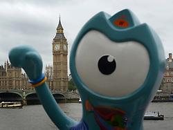 © Licensed to London News Pictures. 18/07/2012. London, UK  A model of Wenlock, one of the Olympic 2012 official mascots. The sculptures are part of a 'Discovery trail' that includes 83 Wenlock and Mandeville models.  Today 18th July 2012 . Photo credit : Stephen Simpson/LNP