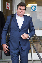 © Licensed to London News Pictures. 08/01/2018. Brighton, UK. Former owner of the now Bankrupt Chain BHS (British Home Stores) DOMINIC CHAPPELL leaves Brighton Magistrates Court on day one of the trial brought by the Pensions Regulator. Photo credit: Hugo Michiels/LNP