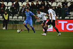 November 3, 2018 - Vercelli, Italy - Italian stricker Gianluca Sansone from Novara Calcio team playing during Saturday evening's match against Pro Vercelli team valid for the 10th day of the Italian Lega Pro championship  (Credit Image: © Andrea Diodato/NurPhoto via ZUMA Press)