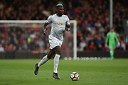 Paul Pogba (6) of Manchester United on the attack during the Premier League match between Bournemouth and Manchester United at the Vitality Stadium, Bournemouth, England on 18 April 2018. Picture by Graham Hunt.