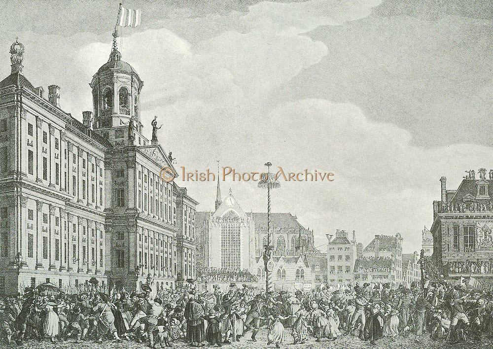 1795 A celebration in Amsterdam (Dam square )