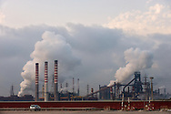 Taranto, 24/09/2012: Acciaieria ILVA - ILVA steel factory.<br /> &copy;Andrea Sabbadini