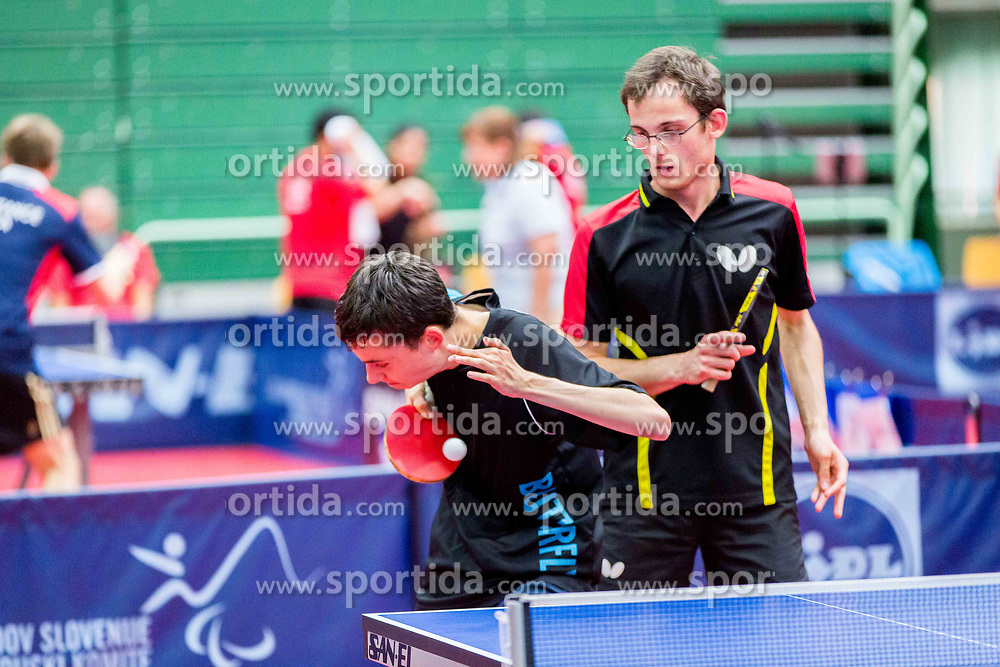 (Team BEL) VAN ACKER Florian and PALOS Peter in action during 15th Slovenia Open - Thermana Lasko 2018 Table Tennis for the Disabled, on May 10, 2018 in Dvorana Tri Lilije, Lasko, Slovenia. Photo by Ziga Zupan / Sportida