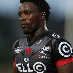 Lwazi Mvovo of the Cell C Sharks during The Cell C Sharks Pre Season warm up game 2 Cell C Sharks A and Toyota Cheetahs A,at King Zwelithini Stadium, Umlazi, Durban, South Africa. Friday, 3rd February 2017 (Photo by Steve Haag)
