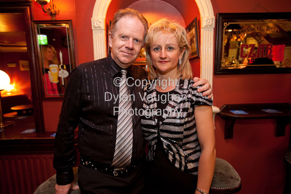 30/9/2008.Larry and Carmel Browne of the Checkers Band pictured at the dancing at the Auld House in Kilamerry County Kilkenny...Picture Dylan Vaughan..