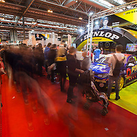 Autosport International Exhibition.<br /> National Exhibition Centre, Birmingham, UK.<br /> Sunday 11 January 2015.<br /> Fans at the Dunlop stand.<br /> World Copyright: Zak Mauger/LAT Photographic.<br /> ref: Digital Image _L0U4528