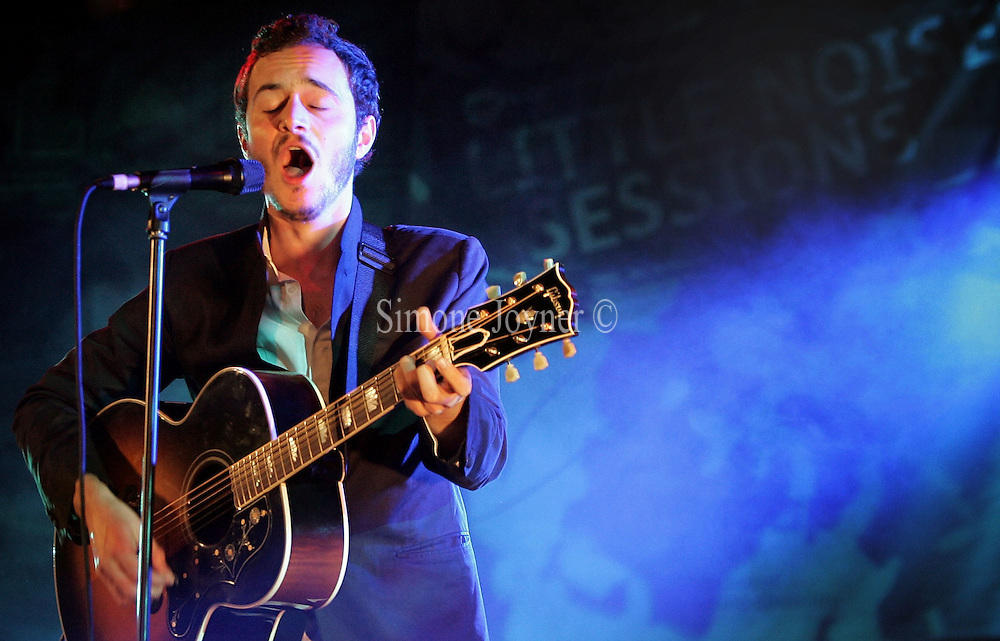 Tom Smith of Editors performs live during the first night of 'Mencap's Little Noise Sessions' at Union Chapel on November 16, 2009 in London, England.  (Photo by Simone Joyner)
