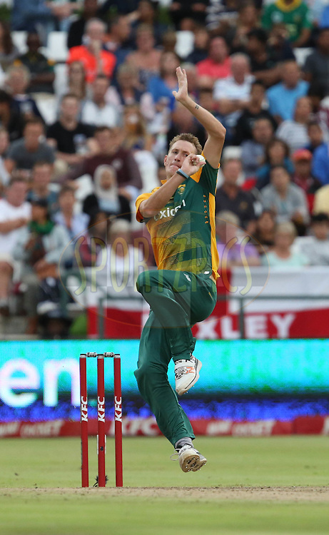 Chris Morris during the First KFC T20 Match between South Africa and England played at Newlands Stadium, Cape Town, South Africa on February 19th 2016