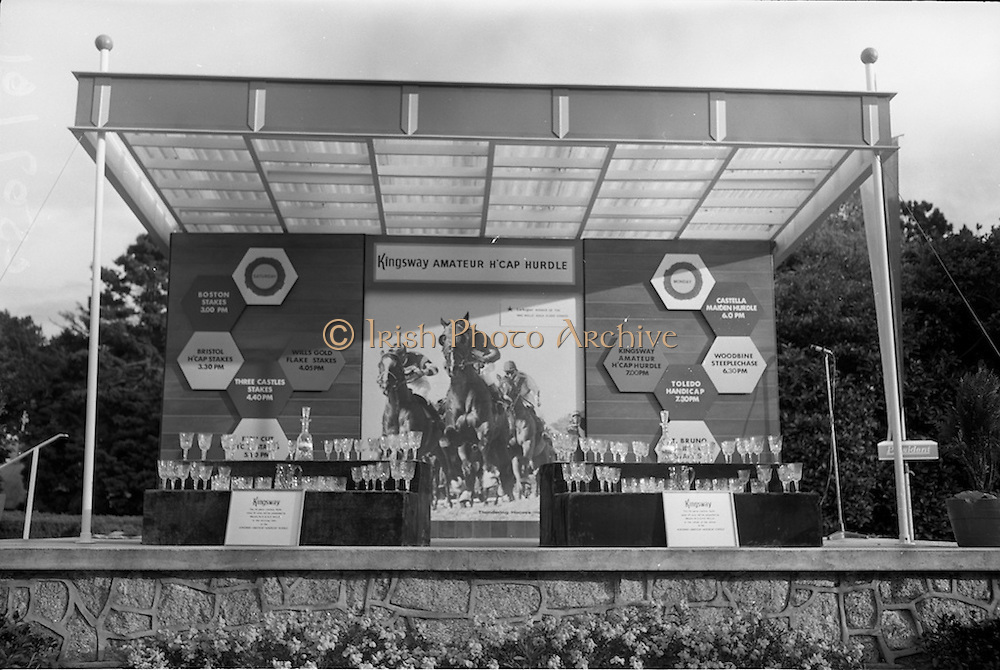 10/05/1965<br /> 05/10/1965<br /> 10 May 1965<br /> The prize-giving stand at the Leopardstown Races on May 10, 1965.