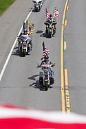 Hurley, New York  - The Patriot Guard Riders were part of the motorcade escorting the body of  U.S. Army Sgt. Shawn M. Farrell II on Route 209 on May 7, 2014. Farrell died April 28 when forces attacked his unit with small arms fire in Afghanistan.