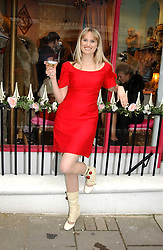 Boutique owner FINE REES at a tea party to celebrate the 1st year of Miss Lala's Boudoir - an underwear boutique at 148 Gloucester Avenue, Primrose Hill, London on 31st March 2005.<br /><br />NON EXCLUSIVE - WORLD RIGHTS