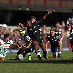 DURBAN, SOUTH AFRICA - MAY 19: Angus Ta'avao of the Gallagher Chiefs is 1st to the ball during the Super Rugby match between Cell C Sharks and Chiefs at Jonsson Kings Park on May 19, 2018 in Durban, South Africa. (Photo by Steve Haag/Gallo Images)