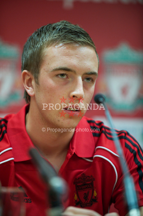 LIVERPOOL, ENGLAND - Tuesday, July 27, 2010: Liverpool FC's Danny Wilson during a press conference at Anfield. (Pic by David Rawcliffe/Propaganda)