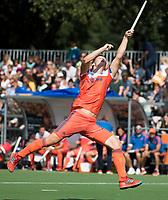 WAALWIJK -  RABO SUPER SERIE. Floris Wortelboer (Ned) tijdens  de hockeyinterland heren  Nederland-India,  ter voorbereiding van het EK,  dat vrijdag 18/8 begint.  COPYRIGHT KOEN SUYK