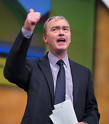 ** FILE PIC - Tim Farron has been elected leader of the Liberal Democrat Party** © Licensed to London News Pictures . 07/10/2014 . Glasgow , UK . TIM FARRON , President of the Liberal Democrats and MP for Westmorland and Lonsdale , gives a thumbs up to the audience after delivering his speech to the conference . The Liberal Democrat Party Conference 2014 at the Scottish Exhibition and Conference Centre in Glasgow . Photo credit : Joel Goodman/LNP