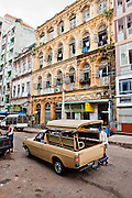 Faded era colonial buildings. Yangon, Myanmar.