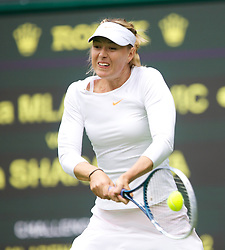 LONDON, ENGLAND - Monday, June 24, 2013: Maria Sharapova (RUS) during the Ladies' Singles 1st Round match on day one of the Wimbledon Lawn Tennis Championships at the All England Lawn Tennis and Croquet Club. (Pic by David Rawcliffe/Propaganda)