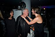 POLLY SAMPSON; DAVID GILMOUR; SAFFRON ALDRIDGE, Exhibition opening ' Alan Aldridge- The Man With Kaleidoscope Eyes' hosted by his daughter Saffron Aldridge. Design Museum. Shad Thames. London  SE1. *** Local Caption *** -DO NOT ARCHIVE -Copyright Photograph by Dafydd Jones. 248 Clapham Rd. London SW9 0PZ. Tel 0207 820 0771. www.dafjones.com
