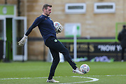 Forest Green Rovers goalkeeper coach Dan Connor during the EFL Sky Bet League 2 match between Forest Green Rovers and Walsall at the New Lawn, Forest Green, United Kingdom on 8 February 2020.