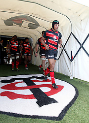 Thierry Dusautoir of Toulouse comes out of the players tunnel for the second half. Stade Toulousain v Brive, 24eme Journee, Top 14. Stade Ernest Wallon, Toulouse, France, 21 Avril 2012.