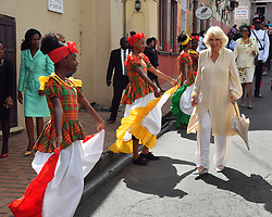 The Duchess of Cornwall at a market in St. George's during a one day visit to the Caribbean island of Grenada.