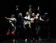 TeZukA<br /> Sidi Larbi Cherkaoui<br /> at Sadler's Wells, London, Great Britain <br /> Rehearsal <br /> 5th September 2011 <br /> <br /> <br /> Jon Filip Fahlstrom<br /> Damien Jalet <br /> Kazutomi Kozuki<br /> Satoshi Kudo <br /> Shintaro Oue<br /> Daniel Proietto<br /> Guro Nagelhus Scia<br /> Helder Seabra<br /> Vebjom Sundby<br /> <br /> Huang Jia Hao - martial artists<br /> Li Bo -martial artists<br />  <br /> <br /> Tosui Suzuki - calligrapher<br /> <br /> <br /> <br /> <br /> Photograph by Elliott Franks