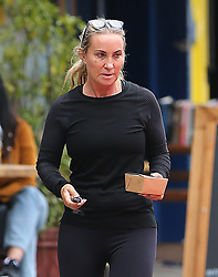 Meg Matthews out and about in north London, The Britpop 'It' girl recently quoted 'Removing fake boobs the best thing I ever did'... 23/09/2019<br />