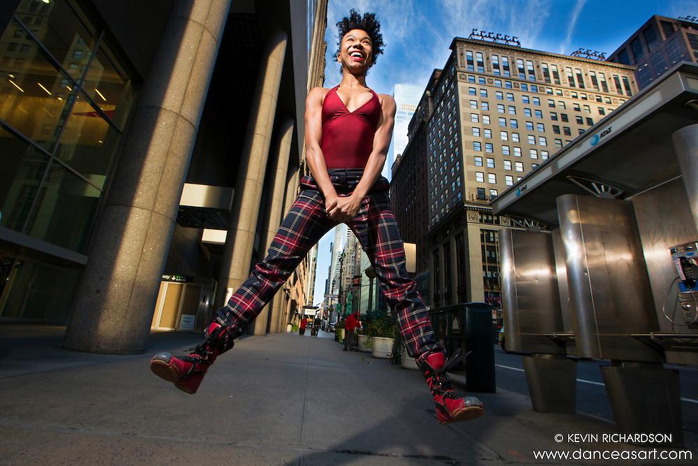 Jump! 42nd Street Dance As Art- The New York Photography Project featuring dancer Khadija Griffith.