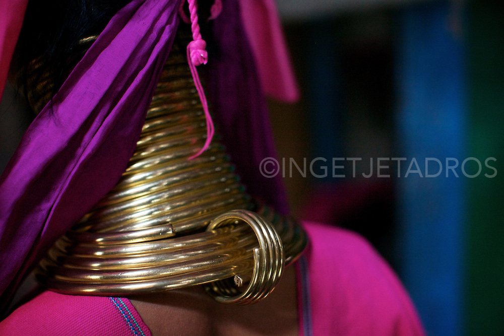 The Kayan are an ethnic minority of Burma (Myanmar). The Kayan Lahwi is the group whose women identify themselves by wearing large neck rings, brass coils that are placed around the neck.<br />