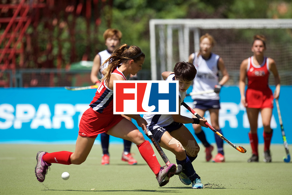 SANTIAGO - 2016 8th Women's Hockey Junior World Cup<br /> KOR v USA (Pool A)<br /> foto: Lauren Moyer and Hyejin Cho (C) <br /> FFU PRESS AGENCY COPYRIGHT FRANK UIJLENBROEK