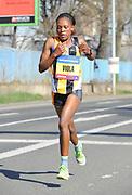 Viola Jelagat (KEN) places 88th in the women's race in 1:46:58  in the Prague Half Marathon in Prague, Czech Republic on Saturday, April 17, 2017. (Jiro Mochizuki/IOS)