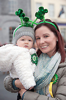 18/03/2013   Sophia Fennessy  and Laura Honan from Gort at  the Gort Co. Galway St Patrick's Day Parade. Picture:Andrew Downes.