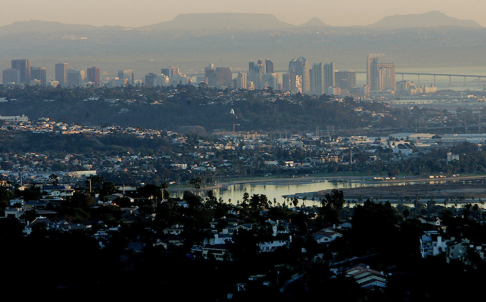 SAN DIEGO,CA- JANUARY 5: View of San Diego from atop Mt. Soledad on Thursday, January 5, 2006(Photo by Sandy Huffaker)