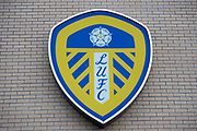 Leeds United badge outside of the East Stand during the EFL Sky Bet Championship match between Leeds United and Millwall at Elland Road, Leeds, England on 20 January 2018. Photo by Craig Zadoroznyj.