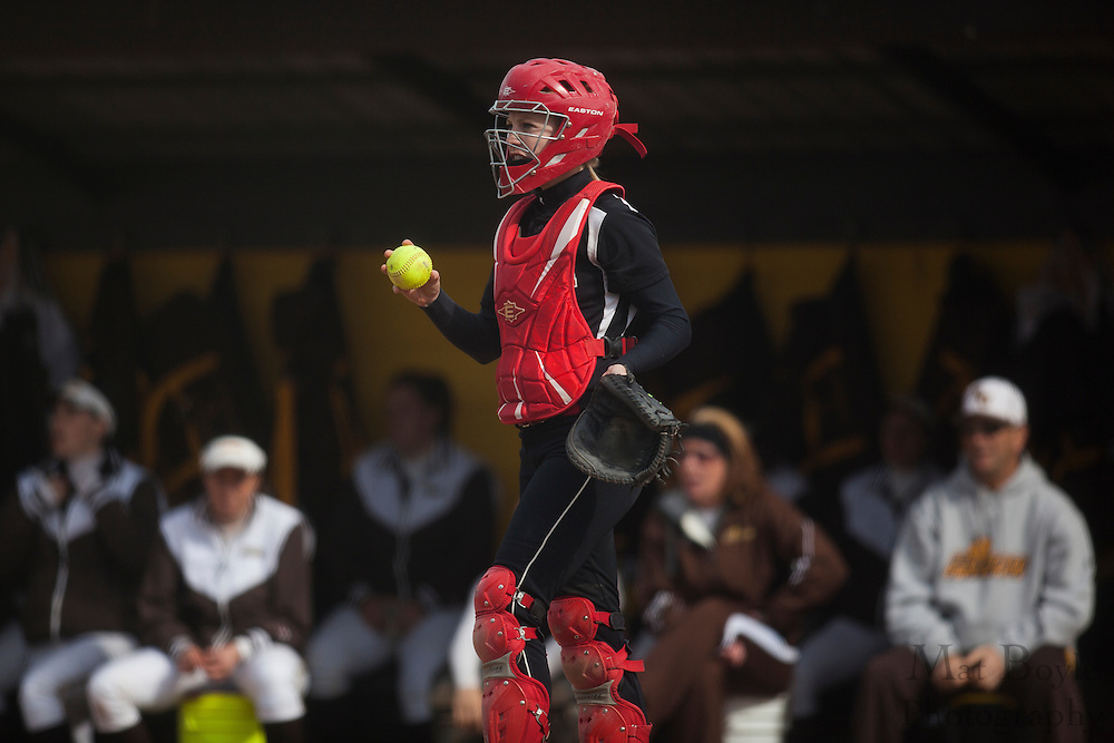 Rutger's Camden Softball  C Erika Drayton (9); Rutgers-Camden softball at Rowan University on Tuesday April 10, 2012 in Glassboro, NJ. (photo / Mat Boyle)