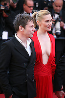 Emmanuelle Seigner, Mathieu Amalric, at Venus in Fur - La Venus A La Fourrure film gala screening at the Cannes Film Festival Saturday 26th May May 2013