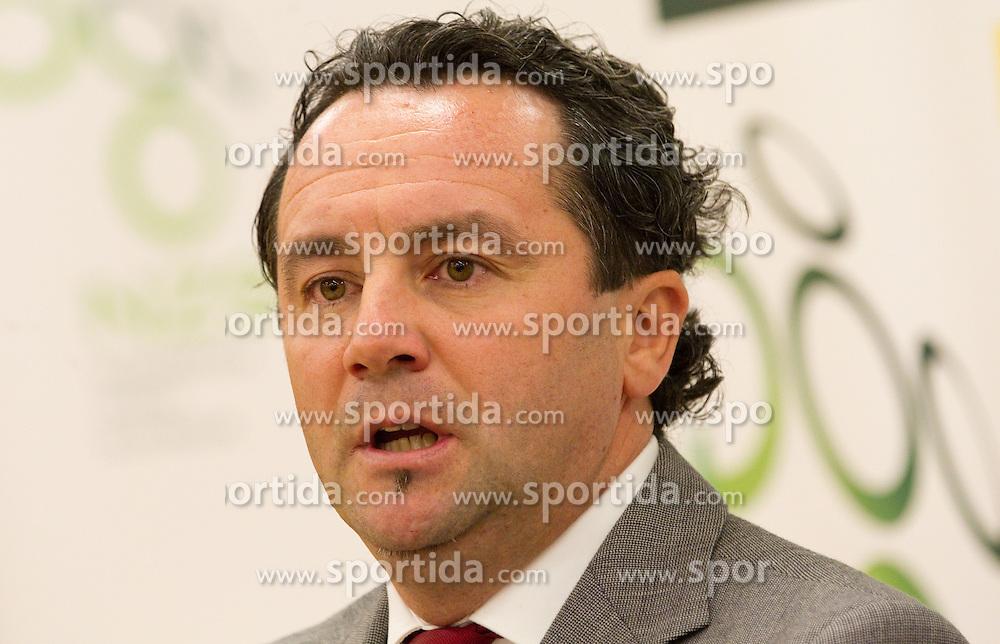 Slavisa Stojanovic, a new head coach of Slovenian National football Team during press conference of Football federation of Slovenia, on October 24, 2011, in Brdo pri Kranju, Slovenia.  (Photo by Vid Ponikvar / Sportida)