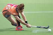 Eindhoven - Oranje Rood - Kampong  Dames, Hoofdklasse Hockey Heren, Seizoen 2017-2018, 15-04-2018, Oranje Rood - Kampong 3-1,  Marlena Rybacha (Oranje-Rood)<br /> <br /> (c) Willem Vernes Fotografie