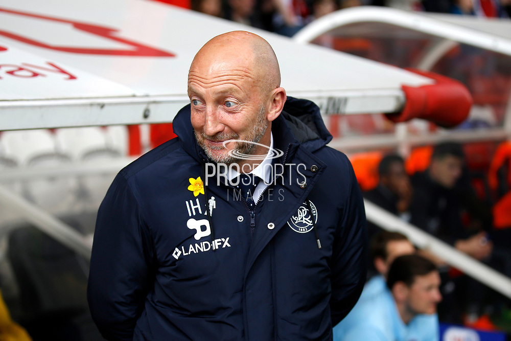 Queens Park Rangers head coach Ian Holloway during the EFL Sky Bet Championship match between Brentford and Queens Park Rangers at Griffin Park, London, England on 22 April 2017. Photo by Andy Walter.