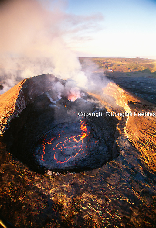 Pu'u O'o Vent, Eruption, Kilauea Volcano, Island of Hawaii