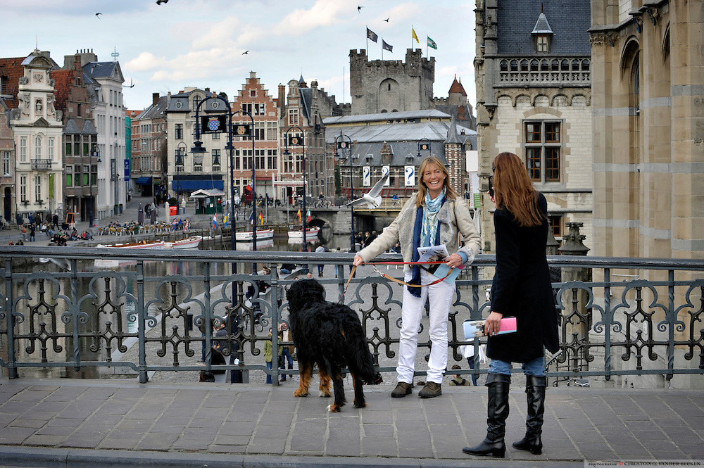 Gent, Belgie, Mar 11, 2009, Sfeerbeelden aan de Graslei, ©Christophe VANDER EECKEN