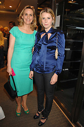 Left to right, the HON.MRS (Sophie) MONTGOMERY and her daughter LADY CONSTANCE MARQUIS at a n evening of private shopping in aid of Elizabeth Fitzroy Support at Tiffany & Co, 145 Sloane Street, London on 14th May 2008.<br />