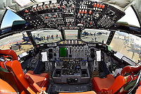 A fisheye view of the CP-140 Aurora cockpit