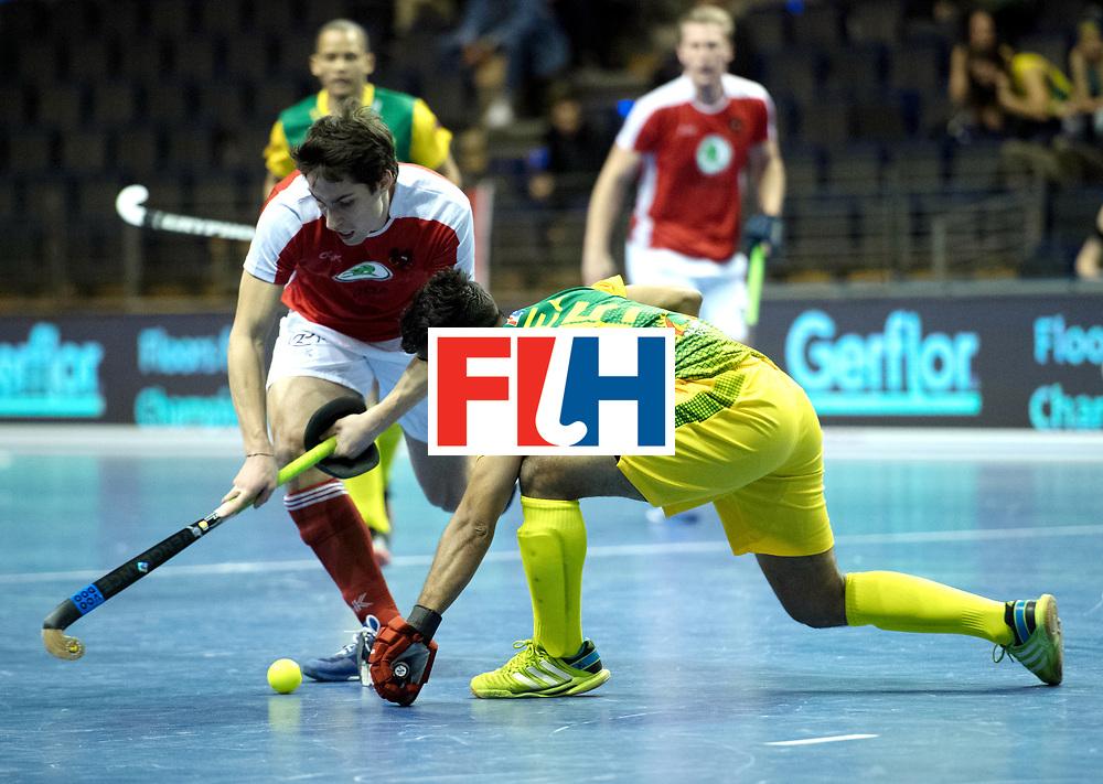 BERLIN - Indoor Hockey World Cup<br /> Austria - South Africa<br /> foto: EITENBERGER Sebastian<br /> WORLDSPORTPICS COPYRIGHT FRANK UIJLENBROEK