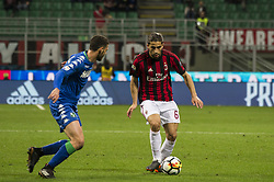 April 8, 2018 - Milan, Milan, Italy - 8th April 2018, San Siro, Milan, Italy; Serie A football, AC Milan versus US Sassuolo; Ricardo Rodriguez of AC Milan (Credit Image: © Gaetano Piazzolla/Pacific Press via ZUMA Wire)