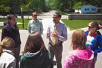 Mark Fenton discussing walkability and traffic calming in Traverse City, Michigan on June, 2015 (Gary L Howe)