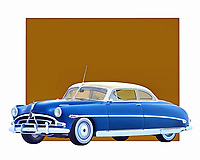 The Hudson Hornet is a car that tells people about reliability and flawless engineering. This is a car that could handle just about anything the road had to offer. This example from 1953 is brilliantly recreated in this digital painting from Jan Keteleer. This is the kind of car people remember for the rest of their lives.