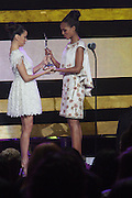 October 13, 2012- Bronx, NY: (L-R) Actresses Eva Longoria and Kerry Washington at the Black Girls Rock! Awards presented by BET Networks and sponsored by Chevy held at the Paradise Theater on October 13, 2012 in the Bronx, New York. BLACK GIRLS ROCK! Inc. is 501(c)3 non-profit youth empowerment and mentoring organization founded by DJ Beverly Bond, established to promote the arts for young women of color, as well as to encourage dialogue and analysis of the ways women of color are portrayed in the media. (Terrence Jennings)